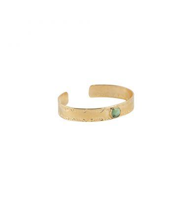 Manchette Banditas Créations, en Vermeil estampé et pierre ronde au choix, fait main, pour femme et enfant