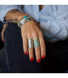 """Bague Zuni """"Needle Point """" par Susie Livingston, Argent et Turquoise, pour femme"""