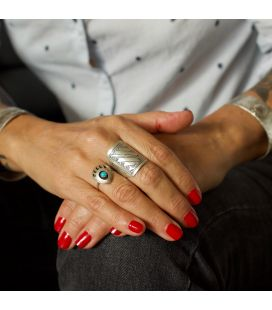 "Native American Navajo, ""Kingman"" Turquoises Ring, women and girls"