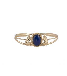 """Bracelet """"3 branches"""" en Vermeil et Lapis Lazuli, Banditas création originale, pour femme"""