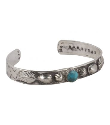 """Banditas Creations Cuff, Stamped Silver and """"Carico Lake"""", for women"""