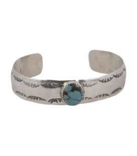 "Banditas Creations Cuff, Stamped Silver and ""Carico Lake"", for women"