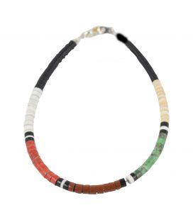 Bracelet Pueblo multipierre, par Dorene Calabaza, entièrement fait main, pour homme et femme