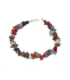 Bracelet Pueblo multipierre, par Eileen Coriz, entièrement fait main, pour homme et femme