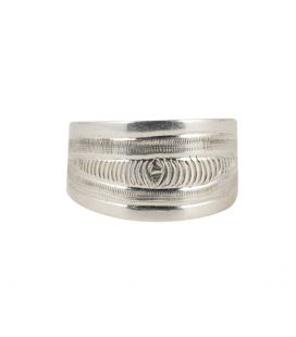 UNISEX ENGRAVED BERBER SILVER ALLIANCE