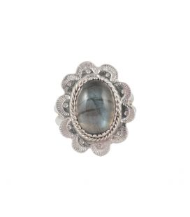 Banditas creations ring, Carico Lake Turquoise on stamped Silver, for women