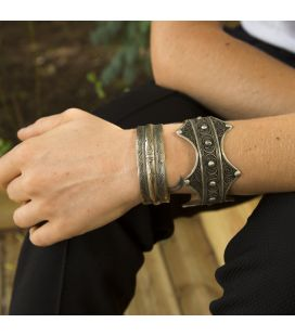 LARG SILVER TUAREG CUFF, FOR WOMEN AND MEN