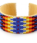 NATIVE AMERICAN NAVAJO CUFF IN EMBROIDERED BEADS by ANita Willis