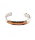 """Bracelet Amérindien Navajo, pour femme, Argent et """"Red Oyster"""""""