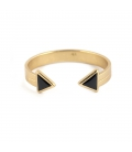 """""""buffalo spirit"""" CUFF, GOLD PLATED AND ONYX, for women"""