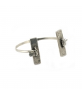 """""""CAMP BAY"""" CUFF, silver PLATED, for women"""