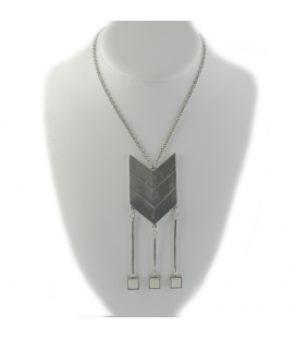 """2 BANDITS """"MANDELA"""" necklace, silver PLATED, for women"""