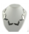 """2 BANDITS """"GARDEN ROUTE"""" necklace, silver PLATED, for women"""