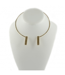 """2 BANDITS """"DOUBLE STICK"""" necklace, GOLD PLATED, for women"""